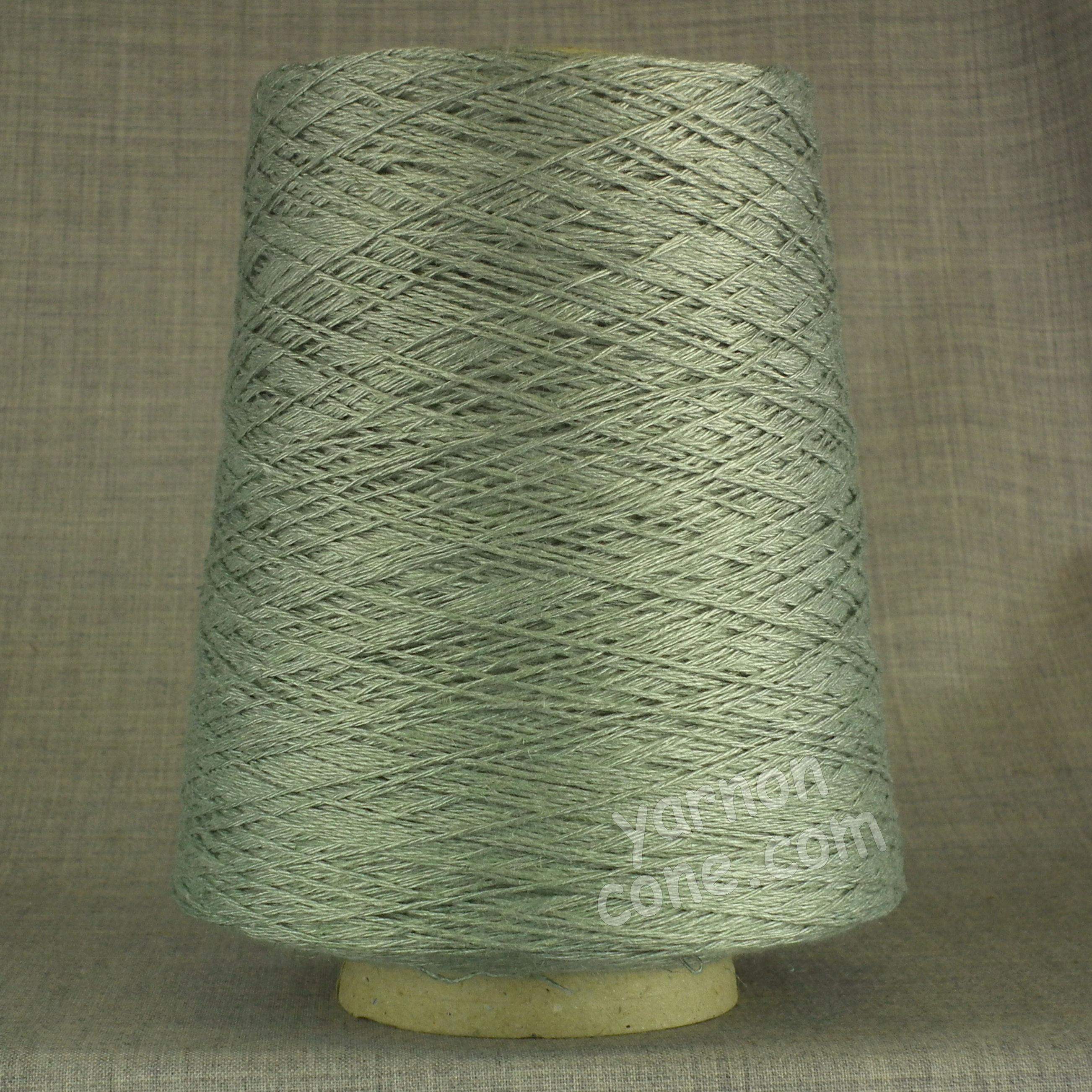 soft 4 ply viscose linen yarn on cone knitting weaving crochet eau de nil