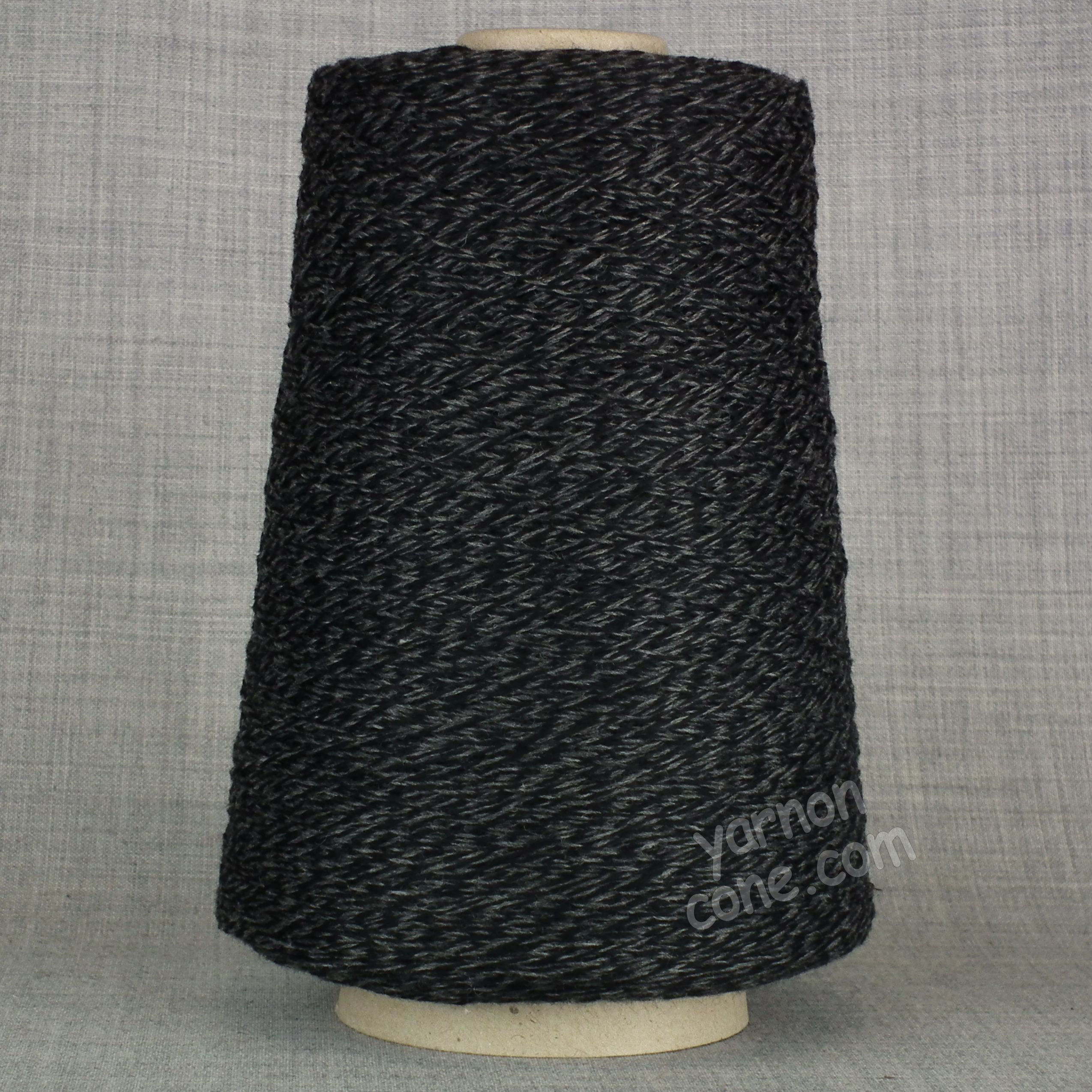 soft cashmere merino 3 ply yarn on cone wool hand machine knitting UK black grey tweed