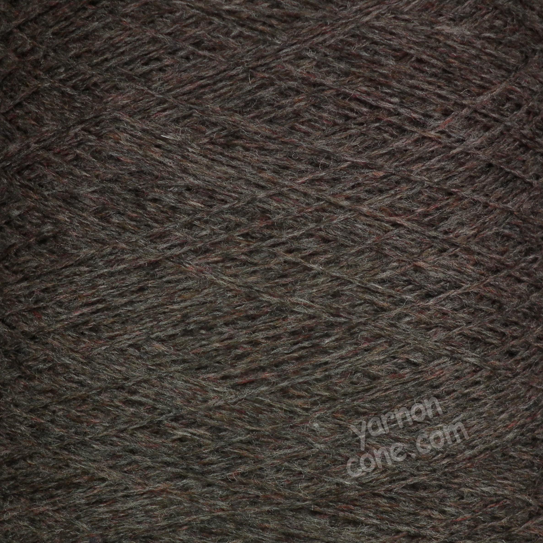 soft cashmere merino 3 ply yarn on cone wool hand machine knitting UK brown melange heather