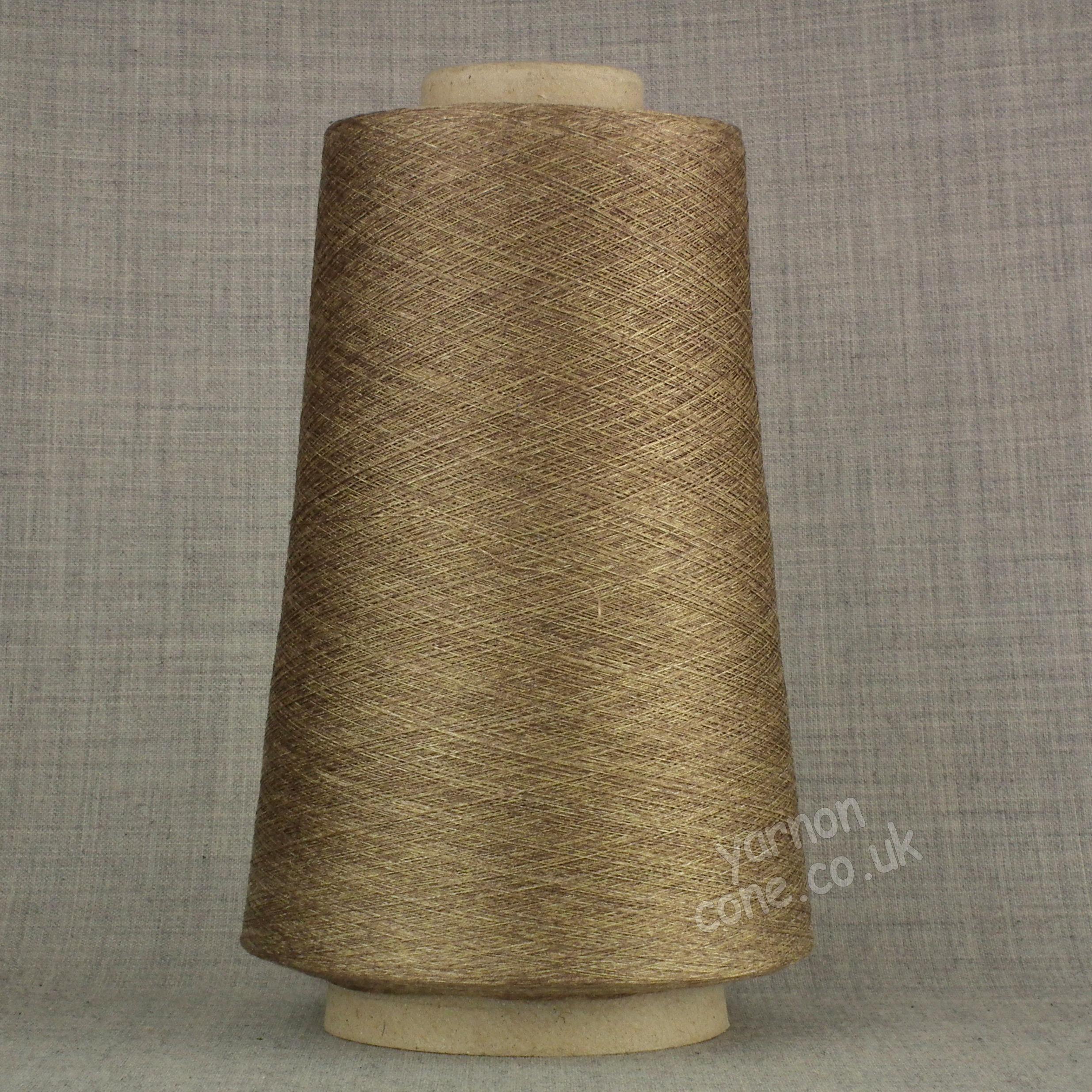 Pure silk cobweb yarn 2/120 NM italian 2/120NM on cone weaving knitting - melange shade