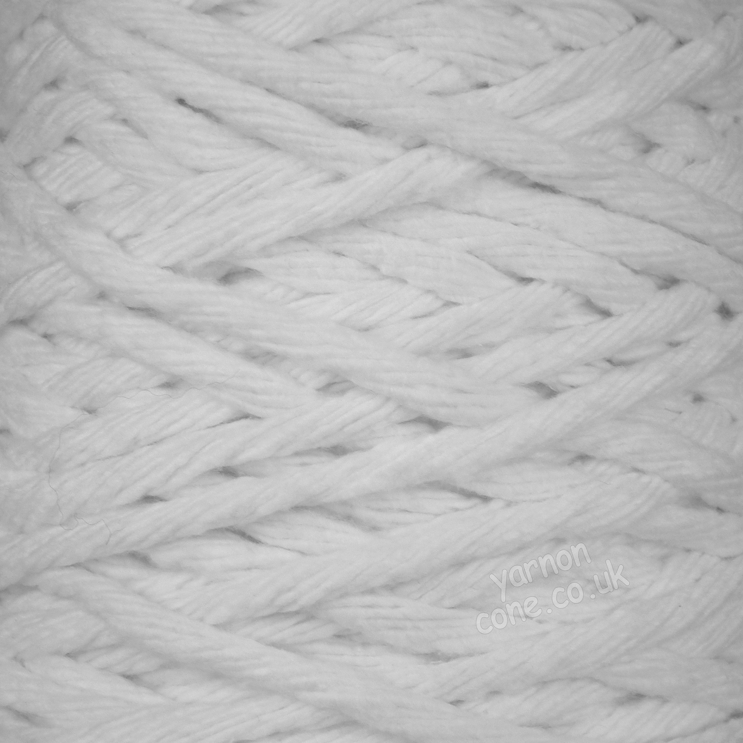 super chunky thick macrame cotton recycled yarn fibre bright optic white bleached cotton coned uk supplier