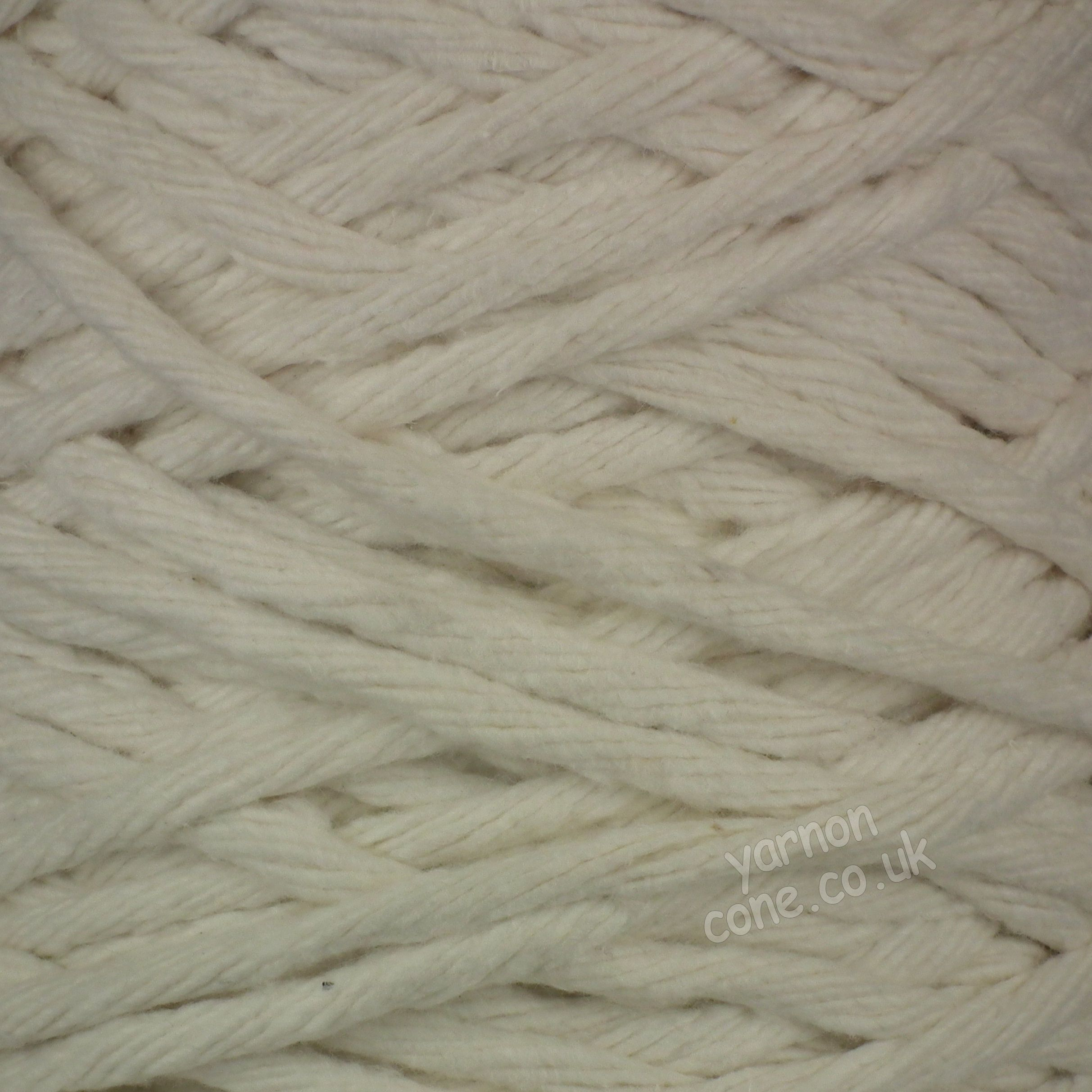 super chunky thick macrame cotton recycled yarn fibre ecru cream undyed cotton coned uk supplier